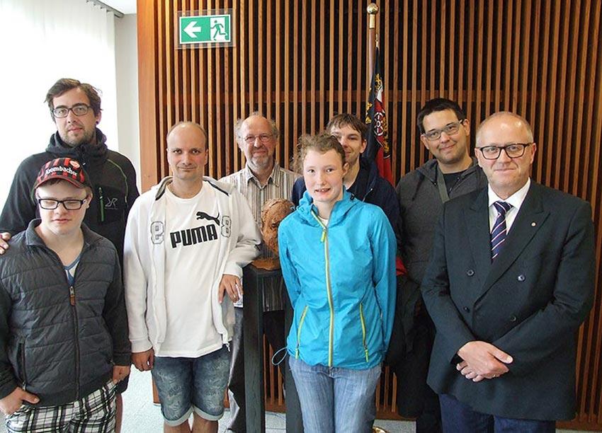 Begrüßung durch Dr. Peter Enders im Mainzer Landtag